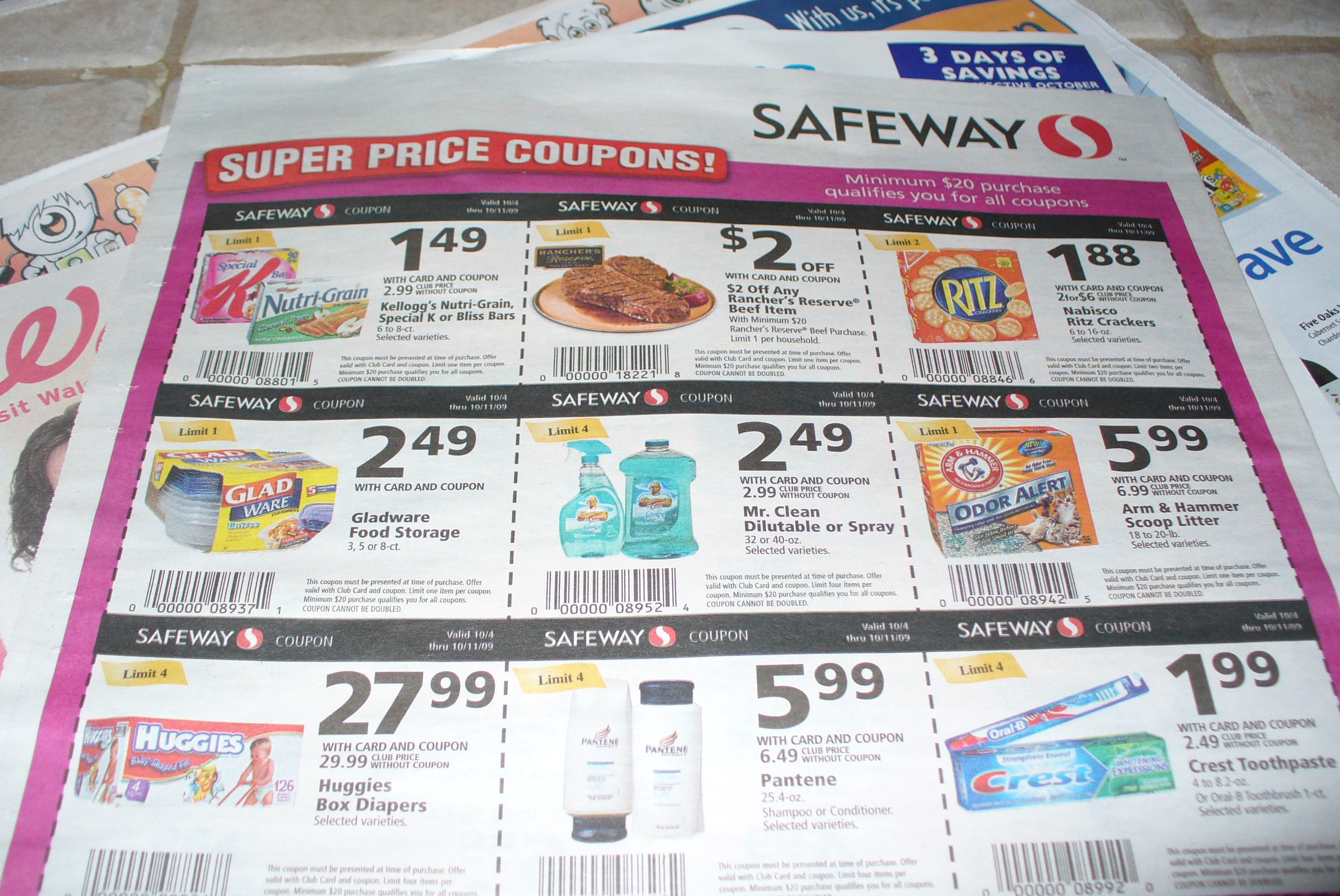 Are there coupon inserts in today's paper