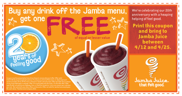 Jamba Juice Insider Rewards. Sign up for rewards, news, special offers and more. Learn more >.