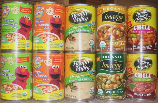 Found at Fred Meyer: $1 organic canned soup!