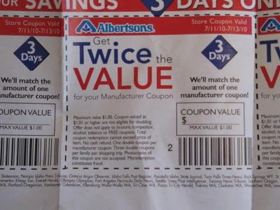 Albertsons double coupon policy 2018