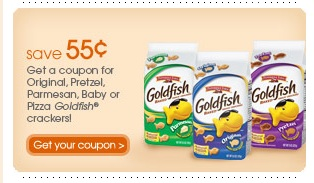 graphic regarding Goldfish Printable Coupons named $0.55/1 Goldfish Crackers printable coupon! - The Coupon Venture