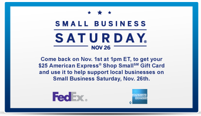 *GONE & UPDATE* Small Business Saturday: $25 American Express Card at Fed Ex