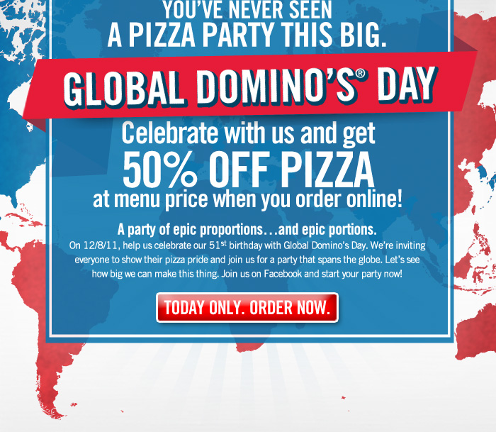 Domino's Pizza Coupons for Dec | Offers Flat 35% OFF + Extra Rs Discount Codes on Today's Online Orders | Rs OFF Promo Codes on Wednesday, Friday, Weekend on Pizzas | Extra Cashback Vouchers via Wallets.