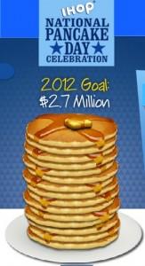 Free pancakes on Feb. 28 at IHOP = National Pancake Day