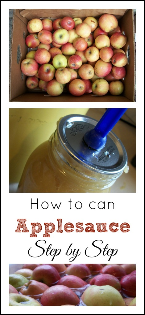 How to Can Applesauce - Step by Step   The Coupon Project