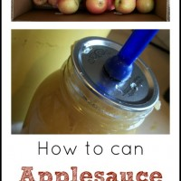 Adventures in Homesteading: Canning Applesauce