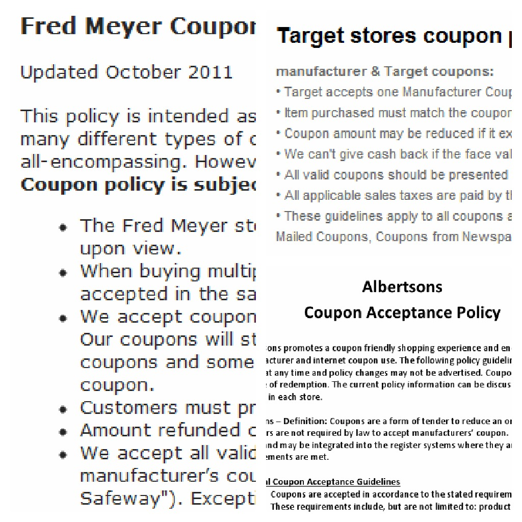A word of caution about coupon fraud