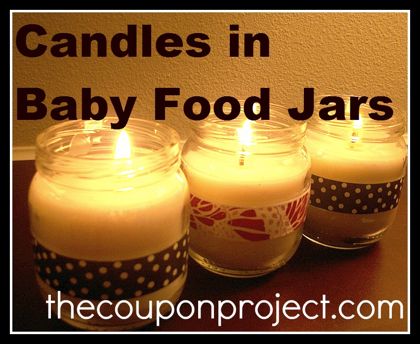 Love In A Jar Candles In Baby Food Jars