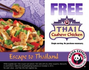 Panda Express Free Thai Chicken