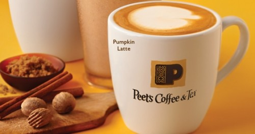 photo regarding Peet Coffee Printable Coupon titled Peets Espresso: No cost Pumpkin Spice Latte with Breakfast Products