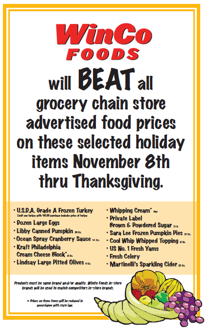 WinCo Turkey Thanksgiving deals