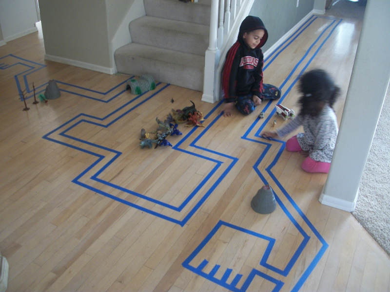 Car Tracks with Kids