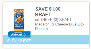 New coupons released: including Kraft Macaroni & Cheese!