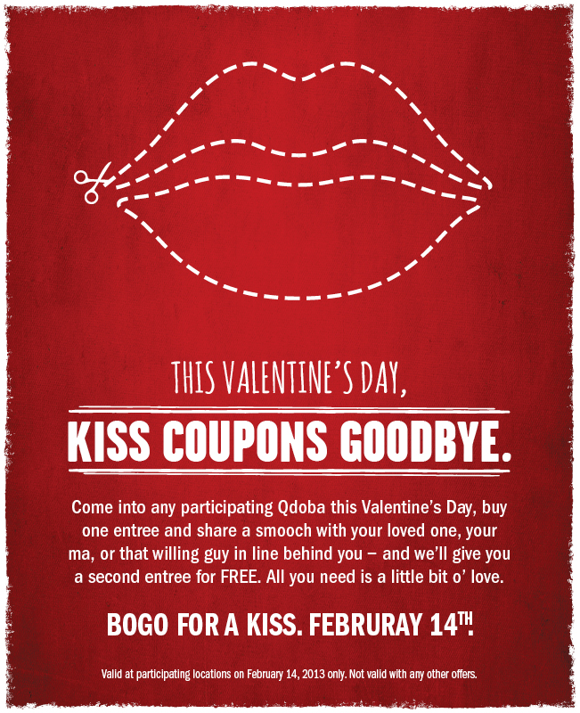 Schön Qdobakiss Bring Your Special Sweetie To Qdoba On Valentineu0027s Day ...