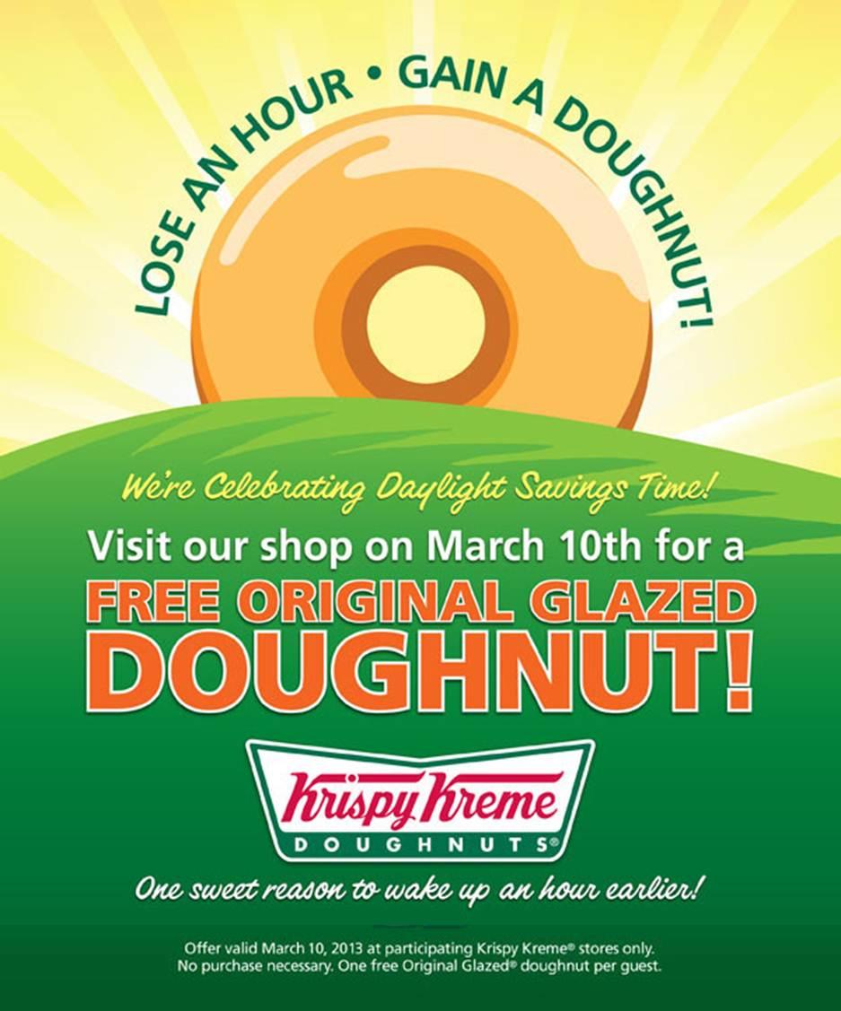 Krispy Kreme: FREE Doughnut on March 10th