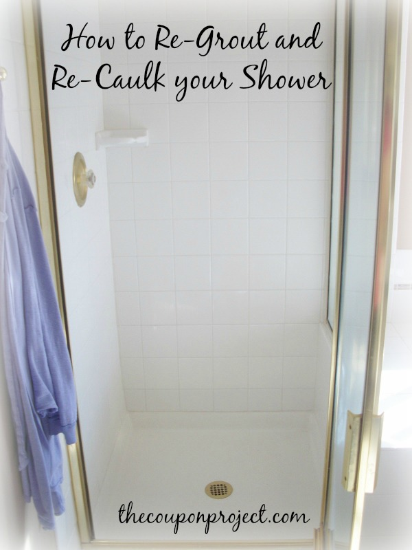 How To Re Grout And Caulk Your Shower