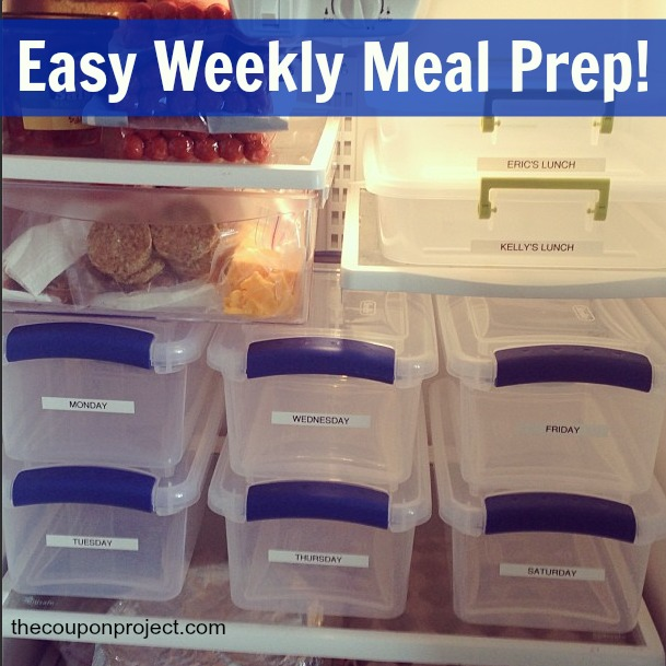 Easy Weekly Meal Planning Prep | The Coupon Project