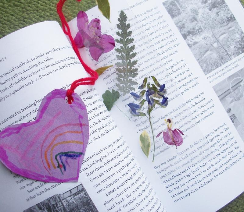 microwave pressed flower tutorial bookmarks in book