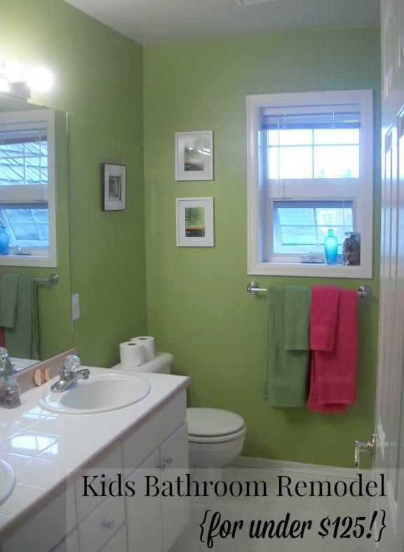 Kids Bathroom Remodel For Under $125!