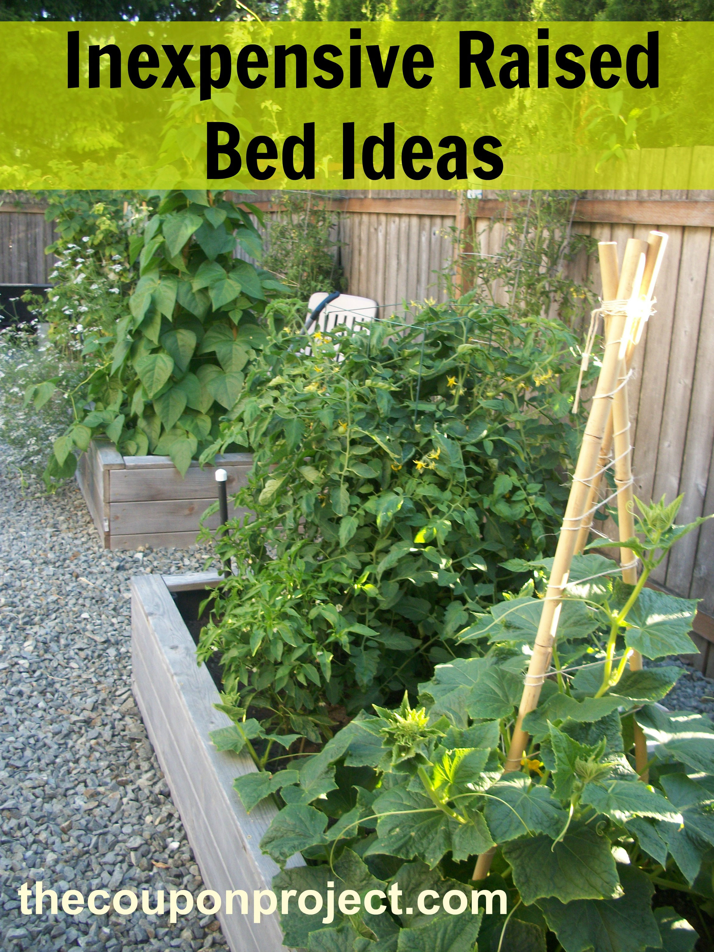 How to make Inexpensive Raised beds | The Coupon Project