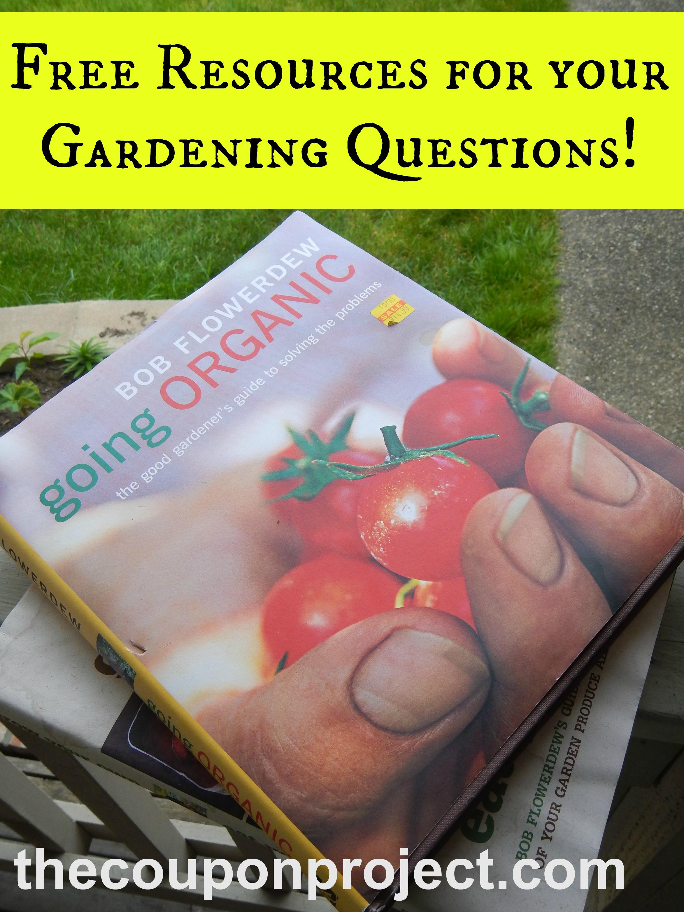 Frugal gardening my favorite free gardening resources for Gardening questionnaire