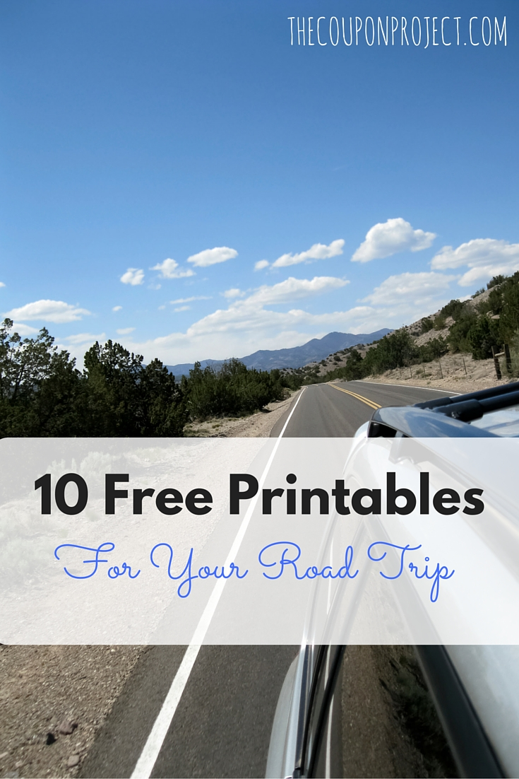 10 Free Printables for Your Road Trip – help your family get organized, and keep the kids occupied!