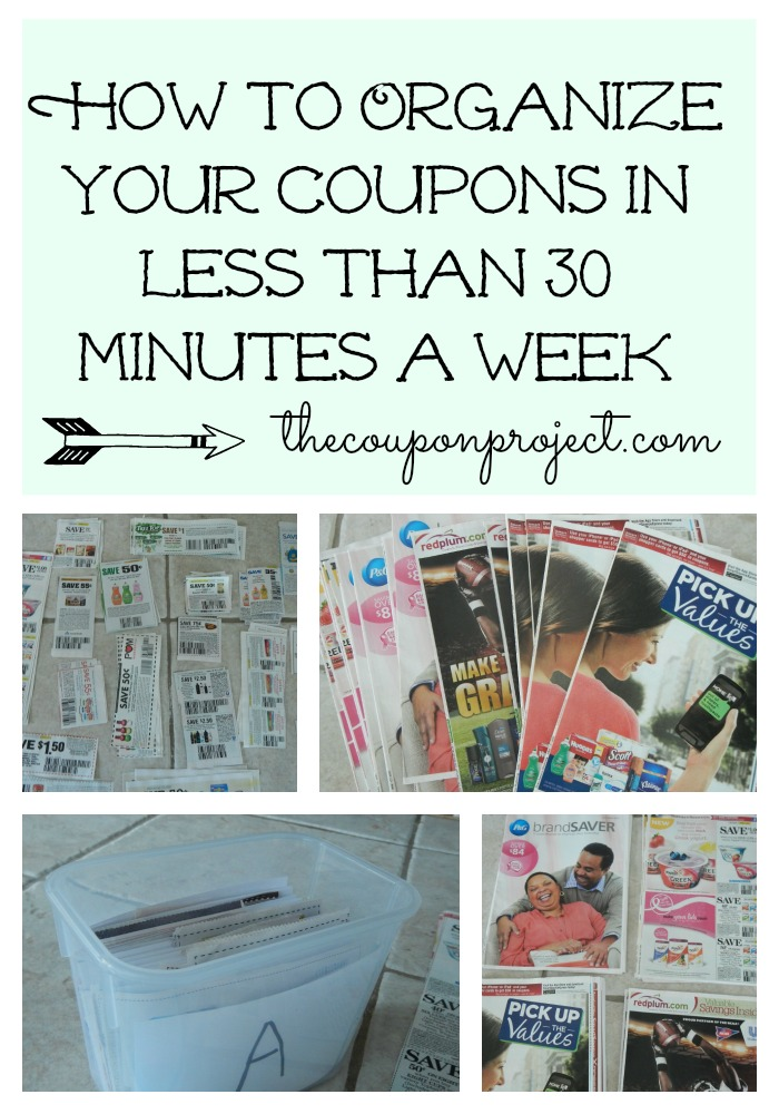 How To Organize Your Coupons In Less Than 30 Minutes A Week The Coupon Project