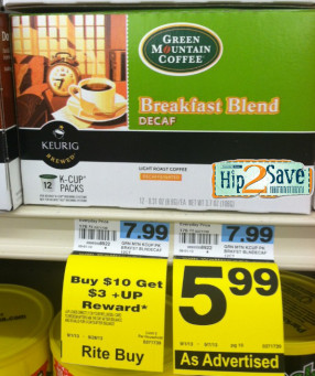 Rite Aid: K Cups as low as $2.99 for 12-pack!