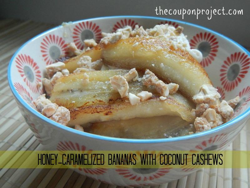 Trader Joe's Coconut Cashews with Honey Caramelized Bananas