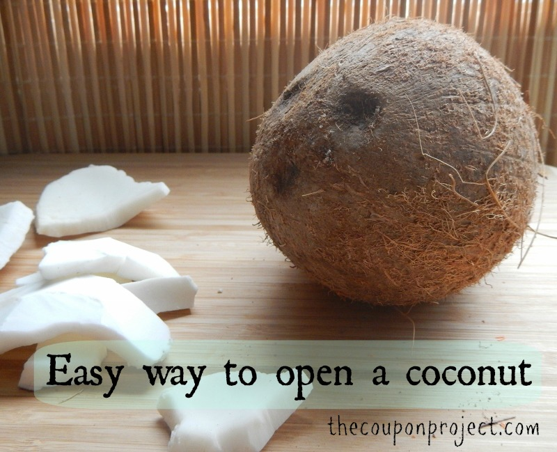 Easy Way to Open a Coconut | The Coupon Project