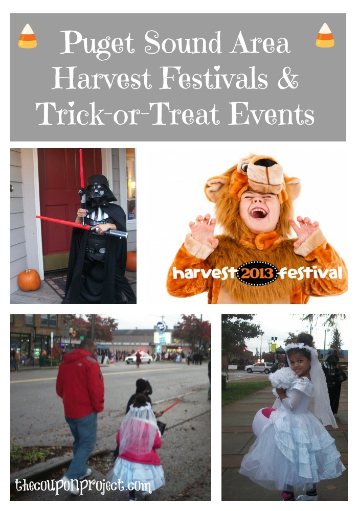 Puget Sound Area Trick or Treat & Harvest Events