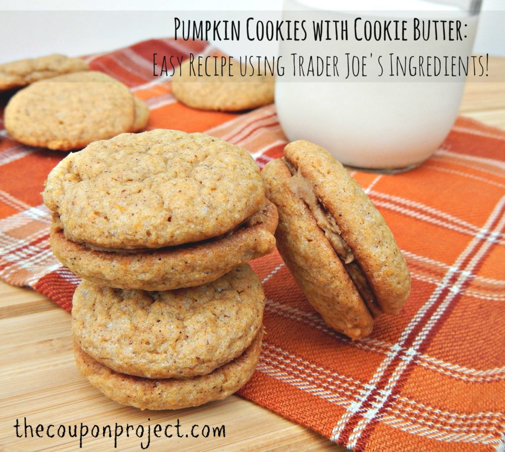 Pumpkin Cookies with Trader Joe's Cookie Butter Recipe