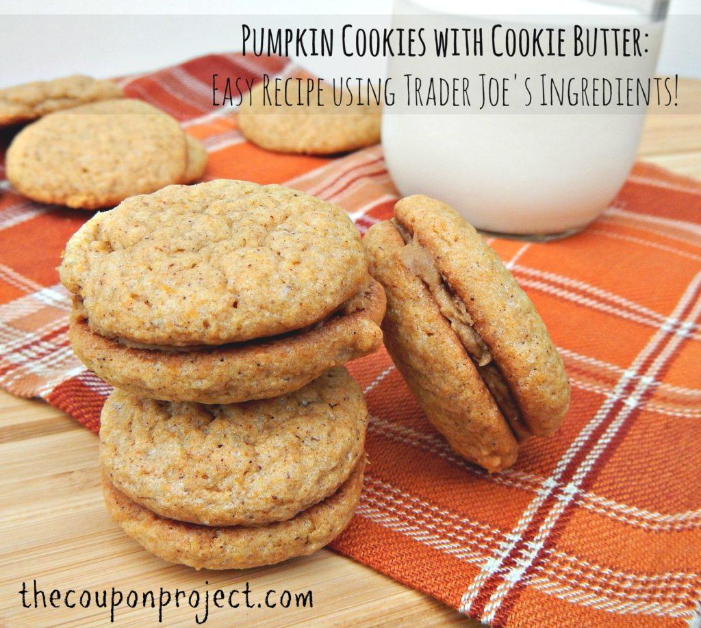 Pumpkin Cookies with Trader Joe's Cookie Butter Recipe