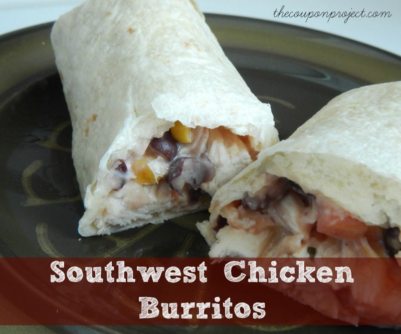 Southwest Chicken Burritos Recipe | The Coupon Project