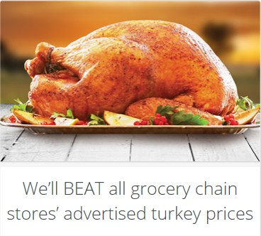 WinCo Price Match Turkeys