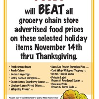 "WinCo: ""We'll BEAT all grocery chain stores' advertised turkey prices"""