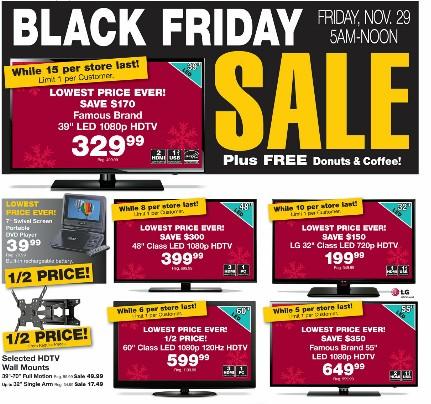 Fred Meyer Black Friday TV Prices