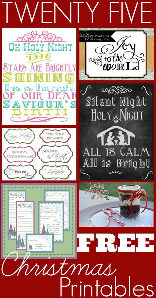 25 Free Christmas Printables | The Coupon Project