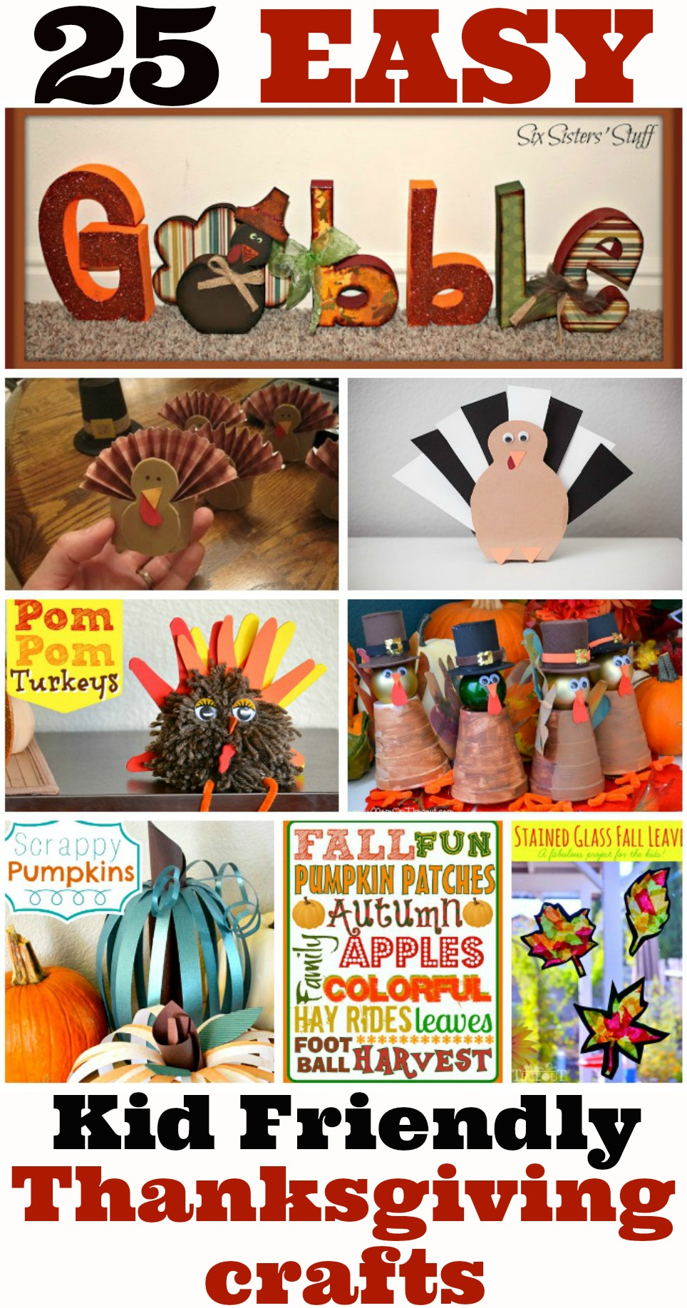 25 Easy Thanksgiving Crafts For Kids The Coupon Project