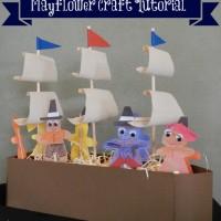 Mayflower Craft Tutorial: a different sort of Thanksgiving Craft