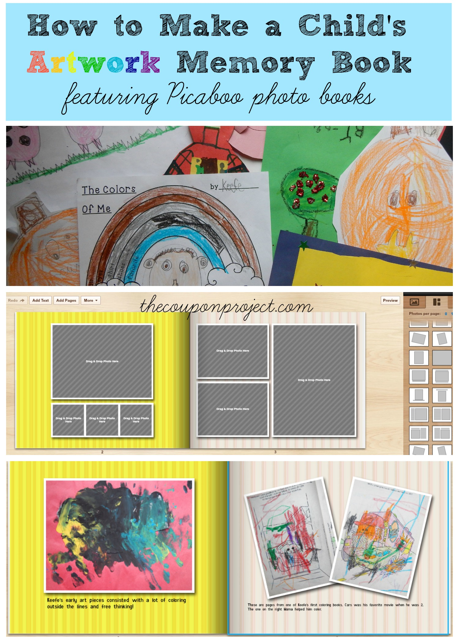 How To Make A Book : How to make a child s artwork memory book featuring
