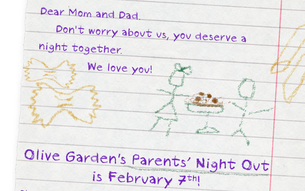 Free Date Night At Olive Garden When You Bring Your Kids