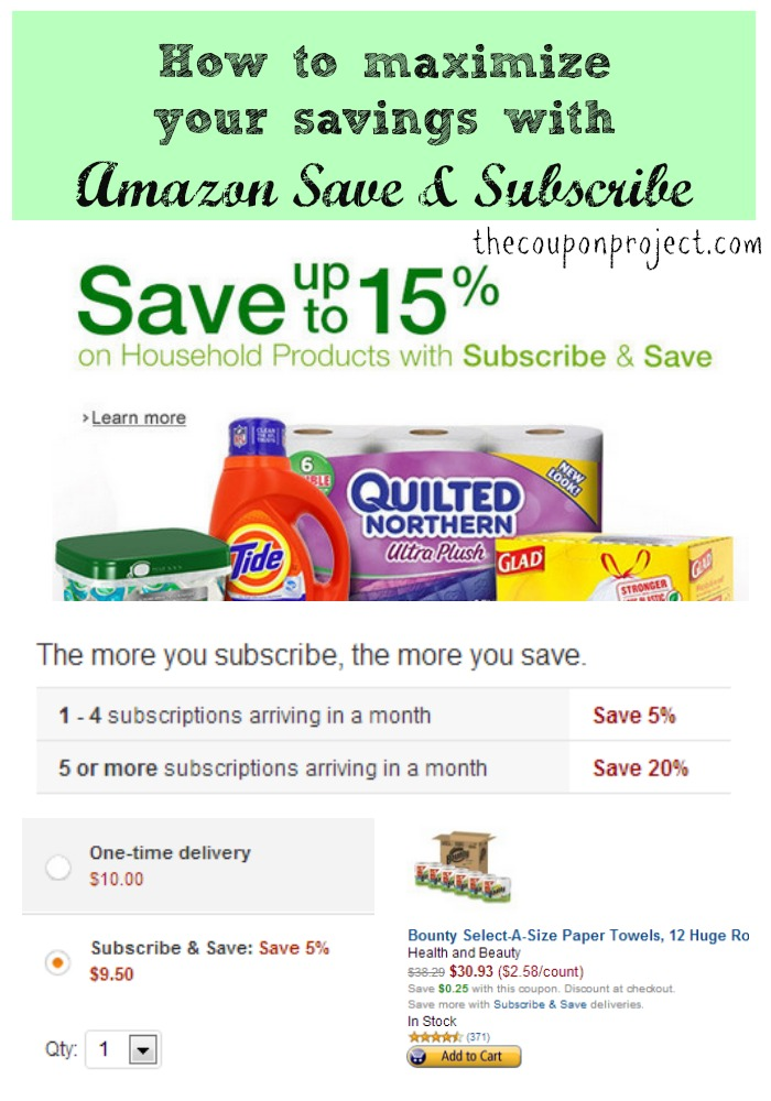 How to Maximize your Savings with Amazon Subscribe and Save