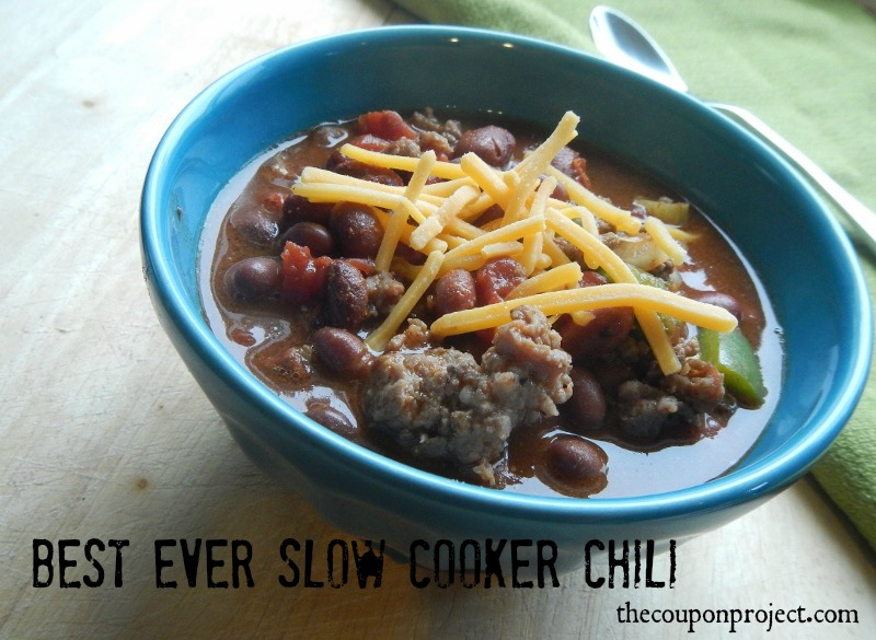 Best Ever Slow Cooker Chili | The Coupon Project