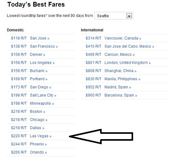Cheap Airfare to Las Vegas