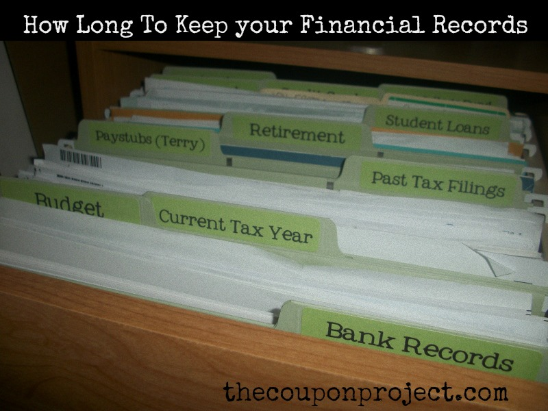 How long to keep your financial records