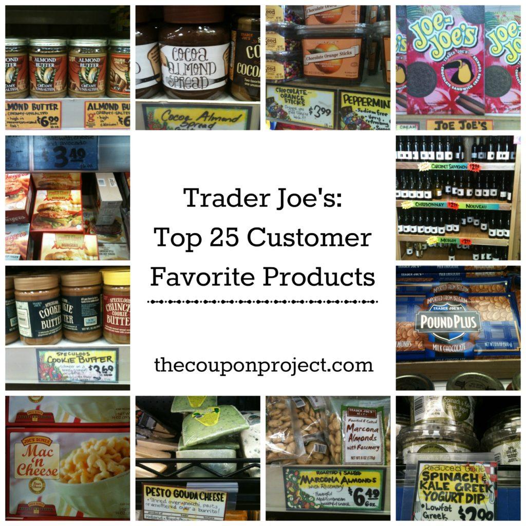 Trader Joe's Top 25 Customer Favorite Products