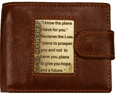 Leather Wallet with Jeremiah 29:11