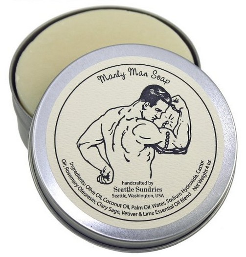 Manly Man Soap & Tin