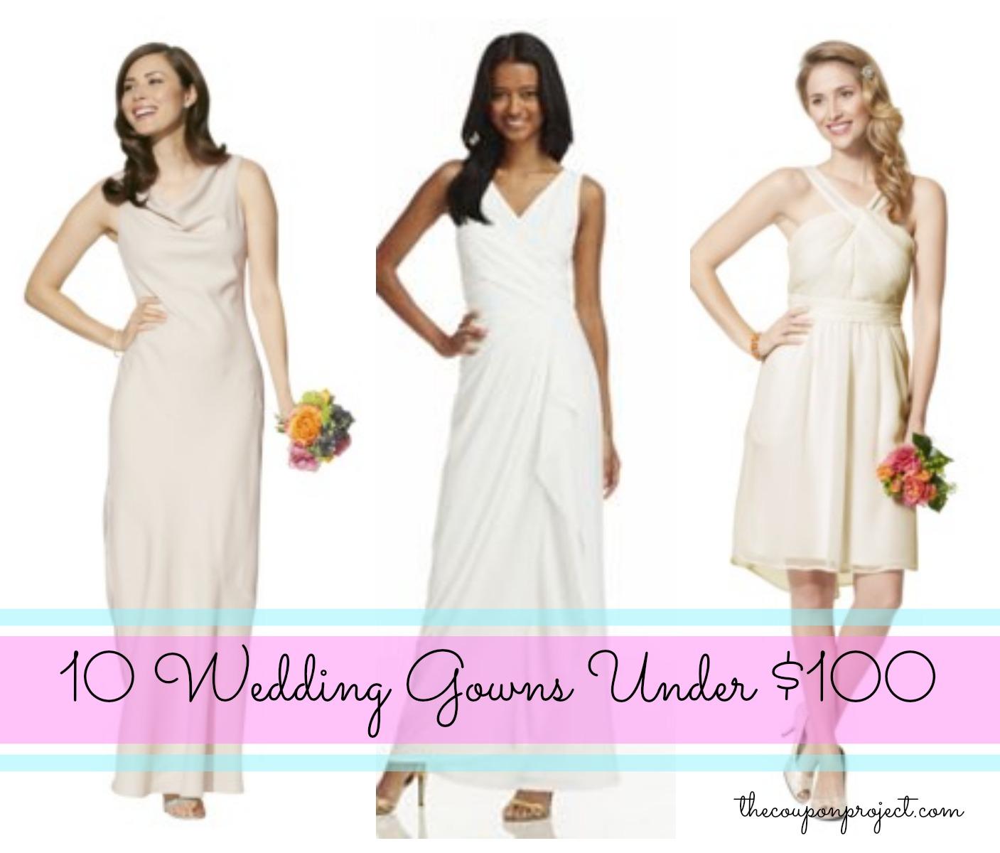 10 Wedding Dresses for under $100